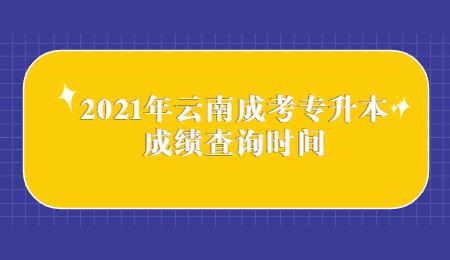 2021年云南成考专升本成绩查询时间