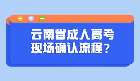 云南省成人高考 云南省成人高考现场确认流程