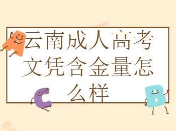 云南成人高考文凭含金量怎么样